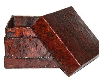 Faux Leather Box, Handmade box