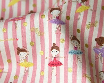 Little cutie ballerina oxford cotton fabric