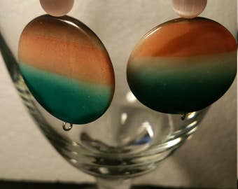 Mother of pearl multi colored earrings