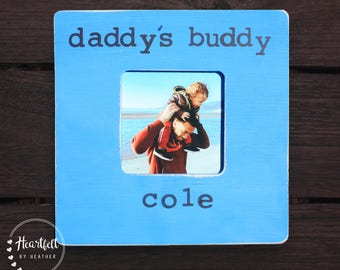 Personalized Daddy Frame Custom Picture Frame First Father's Day Gift New Dad Gift from Child Distressed Rustic for Daddy Father Papa