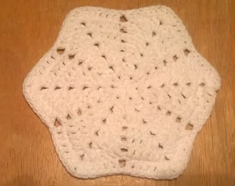 Handmade Crocheted Star Dishcloth