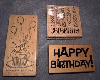Birthday Celebration Stamps Set