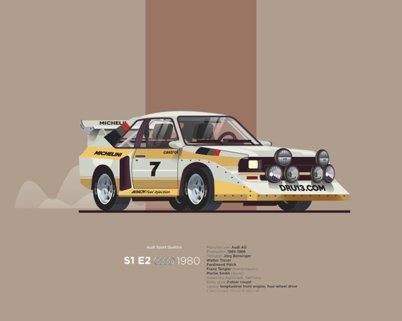 Audi Sport Quattro S1 E2 Car Poster