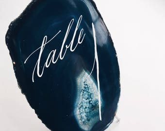 Agate slice table numbers