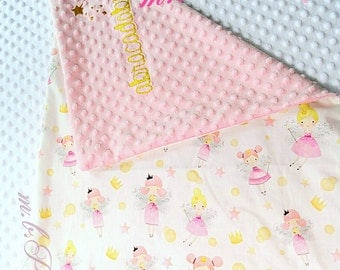 Fairy baby blanket, personalization possible.