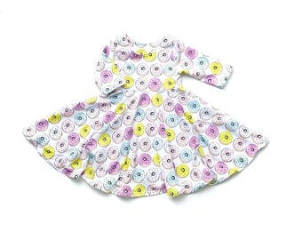 Donut Twirl Dress // Donut Dress // Twirl Dress // Toddler Twirl Dress // Kids Twirl Dress // Summer Dress