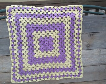 Lavender and pink baby blanket