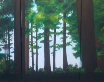 "Painting triptych ""Underwood"""