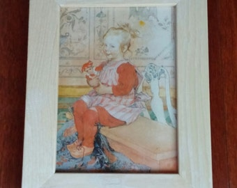Swedish Carl Larsson print wall art framed picture, home decor, girl, nursery, Scandinavian gift