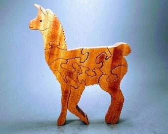 Mosaic the Llama wood puzzle