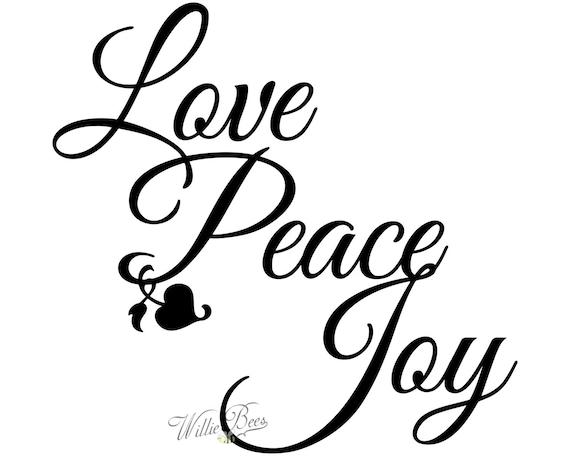 Peace Love Joy Quotes Unique Peace Love Joy Silhouette Words Wall Art Letters Heart Quote
