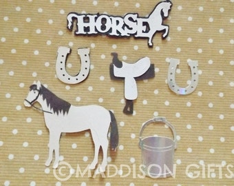 Horse Riding Card Toppers Scrapbooking Equestrian Embellishments Paper Craft Supplies