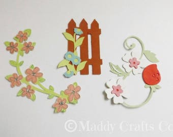 Floral Card Making Embellishments Toppers Scrapbooking Flower Decorative Paper Craft Supplies