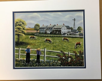 Generation Homestead Oil Painting Print