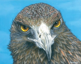 Eagle Painting / Golden Eagle Painting / Wildlife Painting / Original Painting / Wildlife Art / 11 x 14