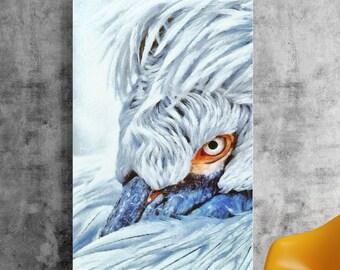 Bird oil painting print,Giclee print,Digital painting,Wall decor,Wall art,Bird painting,