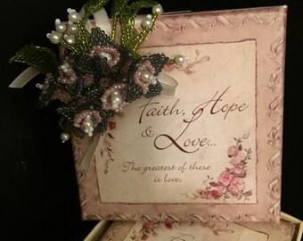 Jeweled decorated gift box