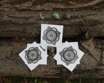 """Mandala Print 4""""x4"""""""