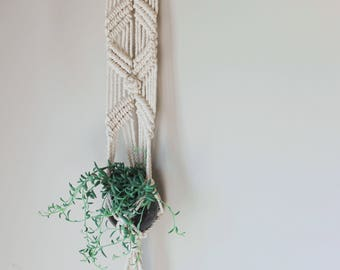 100% Cotton Macrame Wall Hanging Plant Holder - Ready to ship