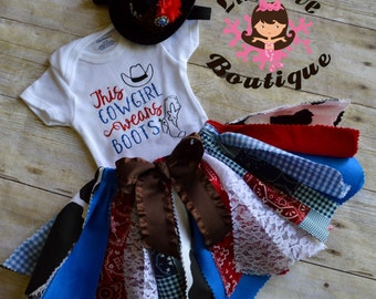 Rodeo outfit, cowgirl outfit, Western outfit, Western scrappy tutu, Cowgirl scrappy tutu