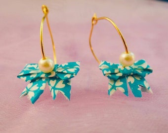 Miniature Origami Bow Earrings