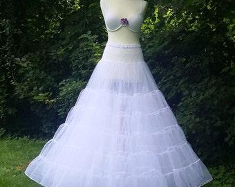 Wedding dress, petticoat, tulle