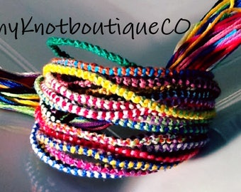 NEW! Handmade LOT 2 Color Knot STYLE Friendship Bracelets Wholesale