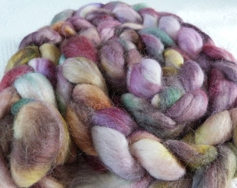 Alpaca hand dyed purple pink green brown 230 g Leberblümerl