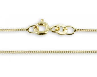 Curb Gold Chain 40cm (8ct yellow gold/0.8mm/0.50grams)