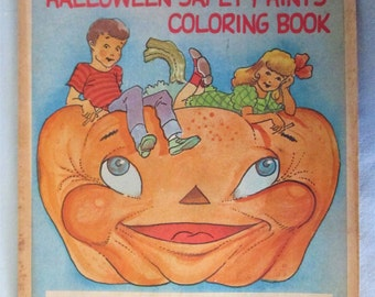 Halloween Meet and Treat  Safety Hints Coloring Book  Creative Sales Concepts Co Vintage 1981