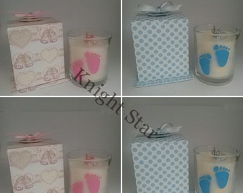 Soy wax baby powder candle in gift box