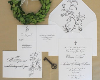 Personalized Sample of Classic Script Wedding Invitation