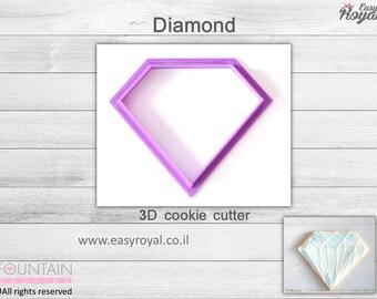 Diamond - 3D cookie cutter