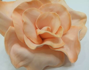 Rose Brooch, Orange  Brooch, Flower Brooch, Mothers day gift, Gift for mom, Flower Pin, Lapel Pin, Gift For Her, Lovely Gift, Pin Brooch