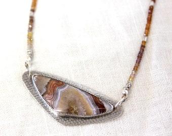 Garnet & Jasper Stone Necklace