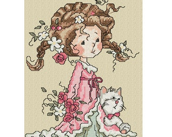 Baker floral cross stitch embroidery machines.