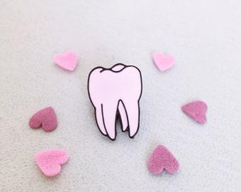 Molar Tooth Enamel Pin