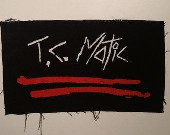 T.C. Matic TC Matic patch white and red logo post punk new wave