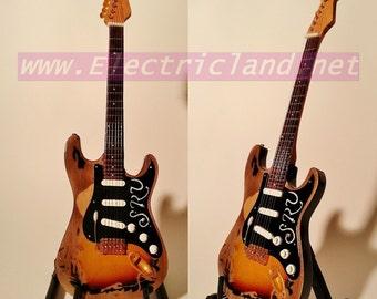 Mini Guitar Stevie Ray Vaughan SRV 1 febder Stratocaster TRIBUTE memorabilia chitarra GITARREN