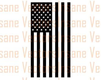 American Flag Silhouette Clip Art Image | American Flag Vector | American Flag svg | Flag svg | Flag vector | USA svg | USA vector | America