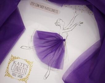 46 Juicy Purple Tulle Fabric Soft Luxury, Tutu Wedding Dress Fabric, Tulle Material Wholesale, Tutu Fabric, Tulle Fabric for Tutus-3m width