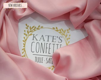 505 Pink Satin Silk Fabric, Wedding Dress Fabric, Soft Luxury Silk Fabric, Lining Silk Material, Wholesale Silk, Tutu Fabric-1.50m wide