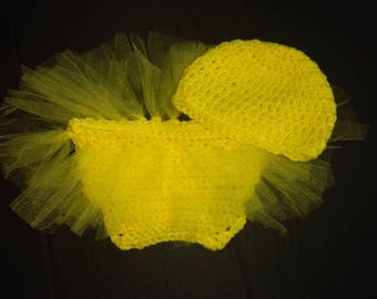Newborn ( 0-3 months) Tutu Diaper cover and Hat