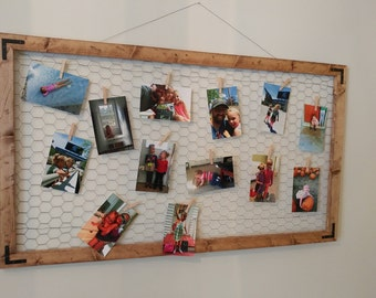 Rustic Frame with Mesh Wire
