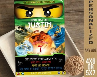 Ninjago / Ninjago Invitation / Ninjago Birthday Invitation / Ninjago Party Invitation / Ninjago Lego / Lego Ninjago / Ninjago Printable