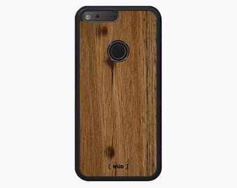 Google Pixel Wood Phone Case - Wormy Chestnut Real Wood Case