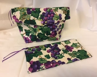 Handcrafted Matching Cosmetic Bags
