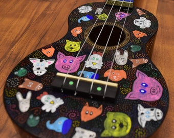 Kindness For All Ukulele (Hand Painted) (One-Off)