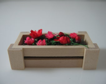 Dolls House Miniature Flower Box