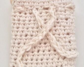 Crochet Soap Saver, Cotton Soap Saver, Soap holder, Soap Bag, Bath Shower Puff, Crochet bag, Cotton Bag,